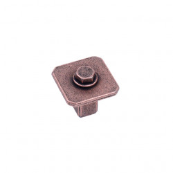 "Century 20223 Raw Authentic Square Knob, 1 1/16"" Diameter"