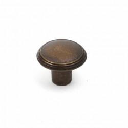"""Century 24505-WB Rio Round Knob, 1 3/16"""" Diameter, Weathered Brass"""