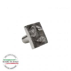 """Century 65017-NBM Ocean Square Knob, Natural Britannium, 1 3/8"""" (35mm) Diameter"""