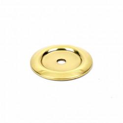 "Century 12069-3 Saturn Back Plate For Knob, 1 1/4"" Diameter, Polished Brass"