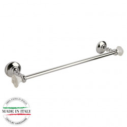 "Century 81760-26W Rose Towel Bar, Polished Chrome With White Roses, 24"" Bar Length"