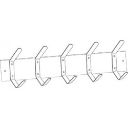 Burns Manufacturing BM4485 Utility Hook Strip - 5 Hooks