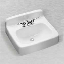 "Ceco 541 Rectangular Service Lavatory Sink 19""x17"", White Finish"