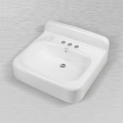 "Ceco 553 Rectangular Service Lavatory Sink 20""x18""x4 1/2"", White Finish"
