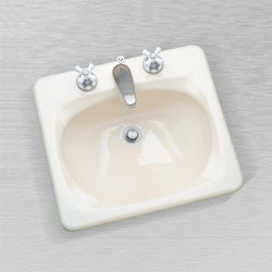 "Ceco 587 Rectangular Lavatory Sink 21""x19"", Self Rimming"