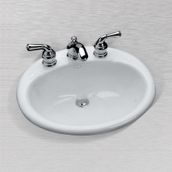 "Ceco 588 Oval Lavatory 19 1/4""x16 1/4"", Self Rimming"