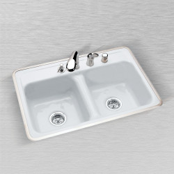 "Ceco 740 Kitchen Sink 32""x21""x8"", Double Bowl"