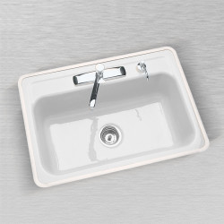 "Ceco 750 Flat Rim Kitchen Sink 24""x21"", Single Bowl"