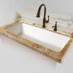"Ceco 741-UM Single Bowl Undermount Kitchen Sink, 43""x19.5""x10"""