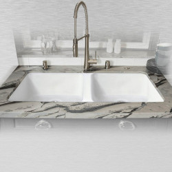 "Ceco 744-UM Double Bowl Kitchen Sink, Undermount 43""x19.5""x10"""