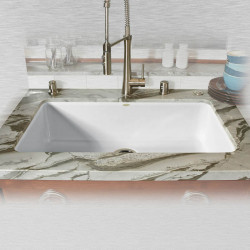 "Ceco 754-UM Single Bowl Undermount Kitchen Sink, 33""x19.5""x9"""