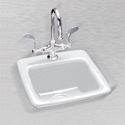 "Ceco 723 (2 Hole) Bar Sink, 15""x15""x7"", Self Rimming"