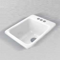 "Ceco 729 Self Rimming Vegetable/Bar Sink, 16""x20""x9"""