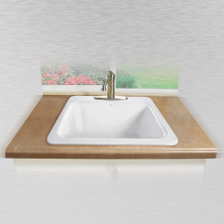 "Ceco 857 Laundry Tray, 25""x22""x13"", Self Rimming, 3 1/2"" Drain, 2 Hole"