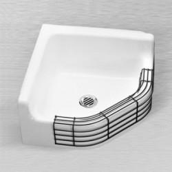 "Ceco 871 Enameled Cast Iron Corner Service Sink 28"" x 28"" x 8"""