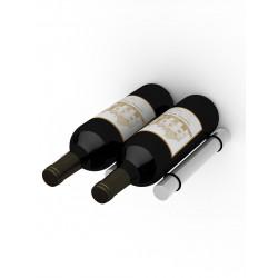 "Ultra Wine Racks U107, Ultra Peg XL (Set-2 PEGs) Brushed Aluminum w/Rubber 1/2""x 9"" M12"