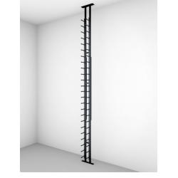 Ultra Wine Racks FTC-4P, 10FT 4-Way Floor to Ceiling Mounts (HZ Rails Only)