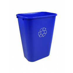 Busch Systems 101422 Recycling & Waste Basket (8 Pack) - Single - 41 Q - Mobius Loop - Blue