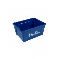 Busch Systems 101423 Deskside Recycler (12 Pack) - Single - Mobius Loop-We Recycle - Blue