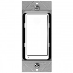 Topgreener ZW15SM-PLUS, In-Wall Smart Z-Wave Light Switch with Energy Monitoring - White