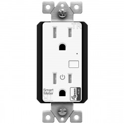 Topgreener ZW15RM-PLUS, In-Wall Smart Z-Wave Outlet with Energy Monitoring - White