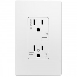 Topgreener TGWF15RM, In-Wall Smart Wi-Fi Outlet (15A/120V) with Energy Monitoring