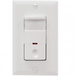 Topgreener TDOS5-W, In-Wall PIR Occupancy/Vacancy Motion Sensor Switch, Neutral Wire Required - White