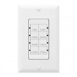 Topgreener TGT08-4-W In-Wall Preset Countdown Timer Switch (1 Minute-4 Hours) - White