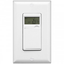 Topgreener HET01-C-W In-Wall 7-Day Digital Programmable Timer Switch - White
