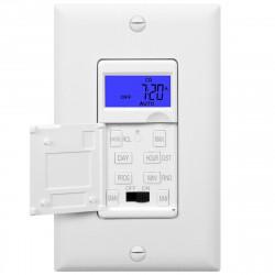 Topgreener HET01-W In-Wall 7-Day Digital Programmable Timer Switch, Backlit