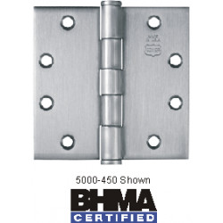 Bommer 5000 Steel Full Mortise Hinge, Standard Weight, Plain Bearing with Steel Pin