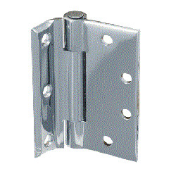 """Bommer 8101 Brass 4.5"""" Half Mortise Hinge, Standard Weight, Plain Bearing with Stainless Steel Pin"""