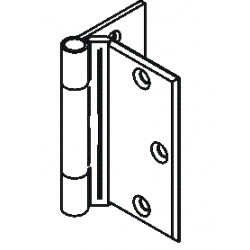 Bommer 8301 Brass Half Mortise Hinge, Standard Weight, Plain Bearing with Stainless Steel Pin