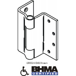 Bommer LB8024 Steel Full Mortise Hinge, Heavy Weight, Lube Bearing, Swing Clear with Stainless Steel Pin (For Square Door Edges)