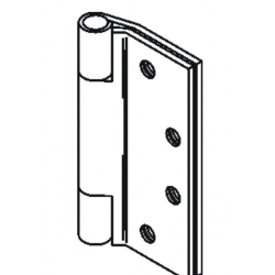 Bommer LB8042 Stainless Steel Full Mortise Hinge, Standard Weight, Lube Bearing, Raised Barrel with Stainless Steel Pin