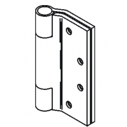 Bommer LB8046 Stainless Steel Full Mortise Hinge, Heavy Weight, Lube Bearing, Raised Barrel with Stainless Steel Pin