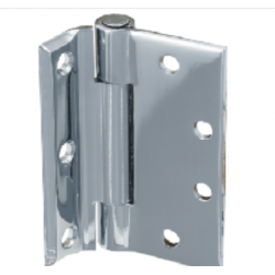 Bommer LB8106 Stainless Steel Half Mortise Hinge, Heavy Weight, Lube Bearing with Stainless Steel Pin