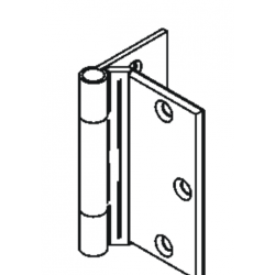 Bommer LB8306 Stainless Steel Half Surface Hinge, Heavy Weight, Lube Bearing with Stainless Steel Pin