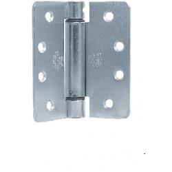"Bommer LB4311C-350T Steel 3.5"" x 3.5"" Full Mortise, Contract Grade, Lube Bearing, 1/4"" Radius Corners (Ball Tip)"