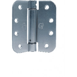 """Bommer LB4392C-350T Stainless Steel 3.5"""" x 3.5"""" Full Mortise, Contract Grade, Lube Bearing, 5/8"""" Radius Corners (Ball Tip)"""