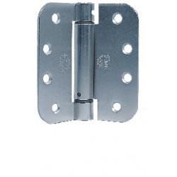 "Bommer LB4312C-400 Steel 4"" x 4"" Full Mortise, Contract Grade, Lube Bearing, 5/8"" Radius Corners (Ball Tip)"