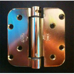 "Bommer LB4340-400 Steel 4"" x 4"" 5/8"" Radius, Single Acting, Spring Hinges, Special Hinge (For Pease Door)"