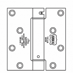 """Bommer LB4350-400 Steel 4"""" x 4"""" Square, Single Acting, Spring Hinges, Special Hinge (For Acom Door)"""