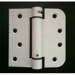 """Bommer LB4376-400 Steel 4"""" x 4"""" 5/8"""" Radius & Square Single Acting Spring Hinges Special Hinge (For Johnson Integrity)"""