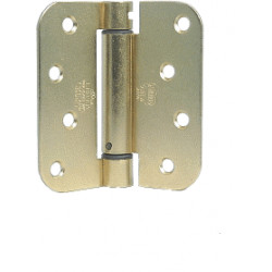 """Bommer LB4378-400 Steel 4"""" x 4"""" 5/8"""" Radius Single Acting Spring Hinges Special Hinge (For Reeb)"""