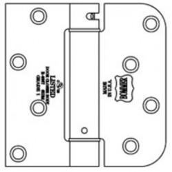 "Bommer LB4381-400 Steel 4"" x 4"" 5/8"" Radius & Square Single Acting Spring Hinges Special Hinge (Stanley Door System)"
