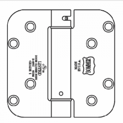 """Bommer LB4382-400 Steel 4"""" x 4"""" 5/8"""" Radius Single Acting Spring Hinges Special Hinge (For General Products)"""