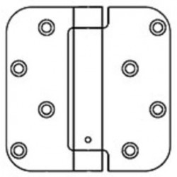 """Bommer LB4383-400 Steel 4"""" x 4"""" 5/8"""" Radius Single Acting Spring Hinges Special Hinge (For Taylor Door)"""