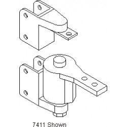 """Bommer 7411 Cast Brass Surface Mount, Box Clamp Jamb Bracket, Fits 1-1/8"""" and 1-1/4"""" Jamb, Double Acting, Gravity Pivot"""