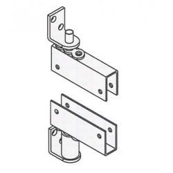 """Bommer 7514 Steel Box Clamp Door Bracket to fits 3/4"""" Thick Door, Double Acting, Gravity Pivot"""